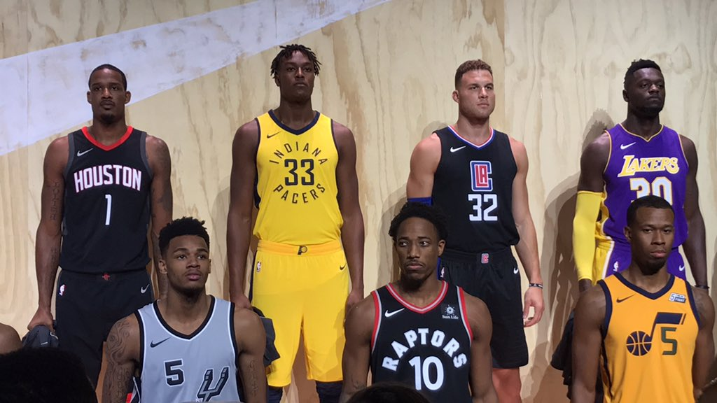 sale retailer dc26e df79d Myles Turner Represents Indiana Pacers at Nike Statement ...